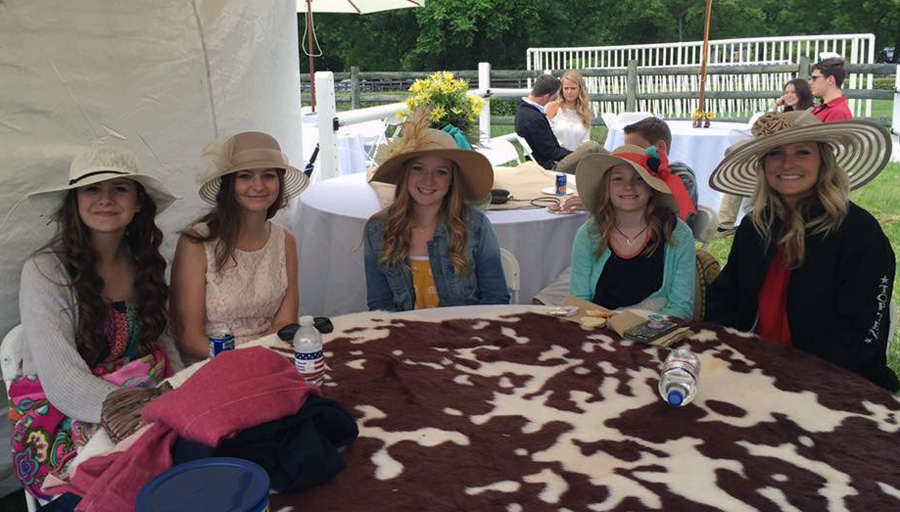 2016 Iroquois Steeplechase - Aggi Dumford and Triple A Ranch students and friends